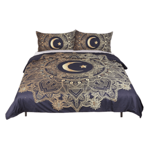 Gold Mandala 3pc Bed Set