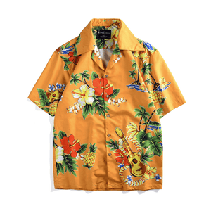 Gold Hawaiian Button Up