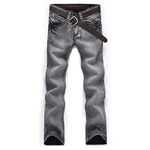 Gray Classic Cut Jeans