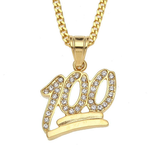 Hundred Points Rhinestone Necklace
