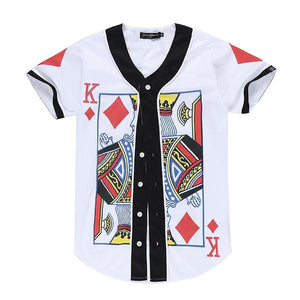 King Of Diamonds Button Up Tee