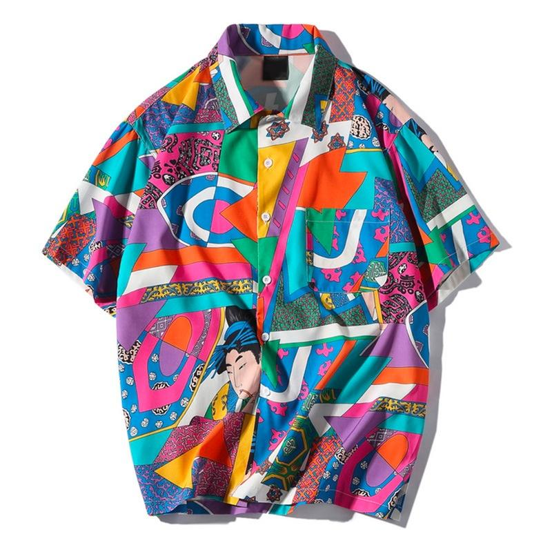 Loose Japanese Print Shirt