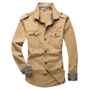 Military Style Button Up