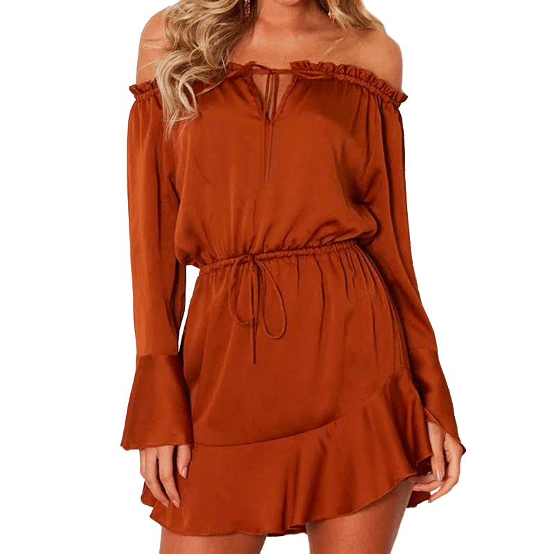 Off-Shoulder Mini Dress