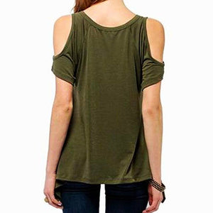 Open Shoulder V-Neck