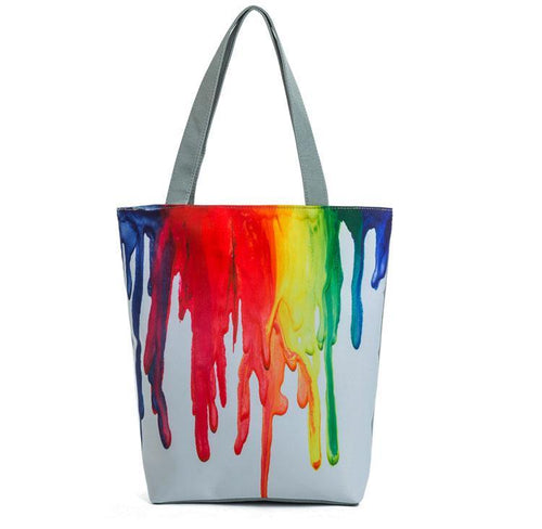 Paint Drip Tote Bag