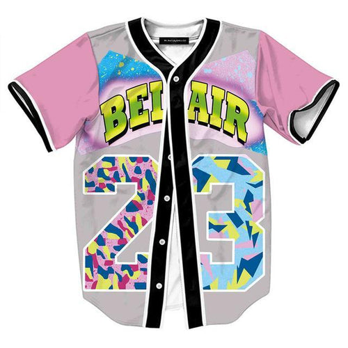 Pink Bel Air Button Up Jersey Tee