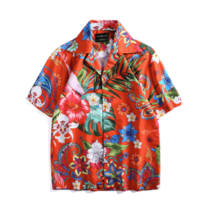 Paisley Hawaiian Button Up