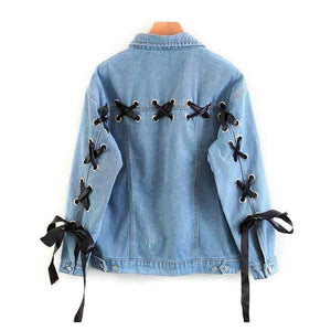 Ribbon Denim Jacket