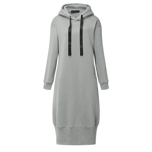 Satin Ribbon Hoodie Dress