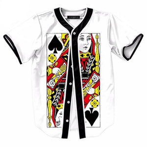 Shirts - Queen Of Spades Button Up Tee