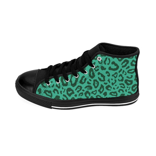 Shoes - Men's Green Leopard Sneakers