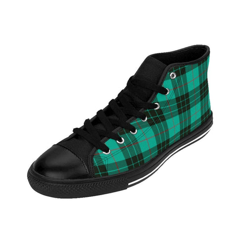 Shoes - Men's Green Plaid Sneakers