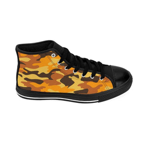 Shoes - Men's Orange Camo Sneakers