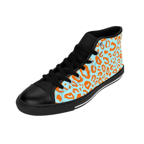 Shoes - Men's Orange Leopard Sneakers