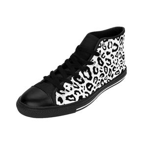 Shoes - Men's White Leopard Sneakers