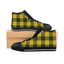 Shoes - Men's Yellow Plaid Sneakers