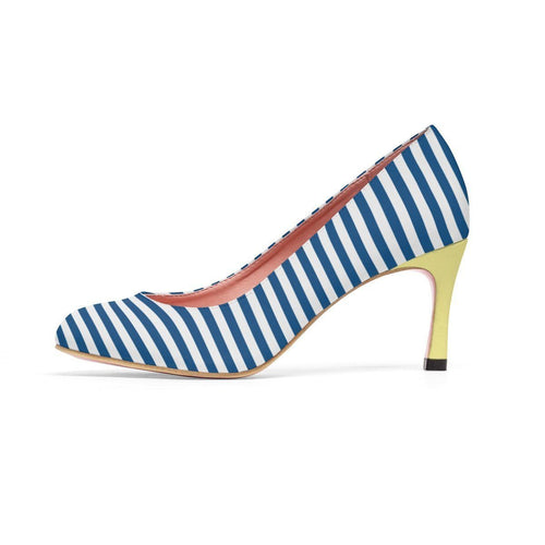Shoes - Navy Stripe Pumps