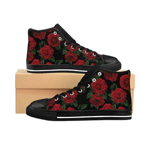 Shoes - Women's Black Rose Sneakers
