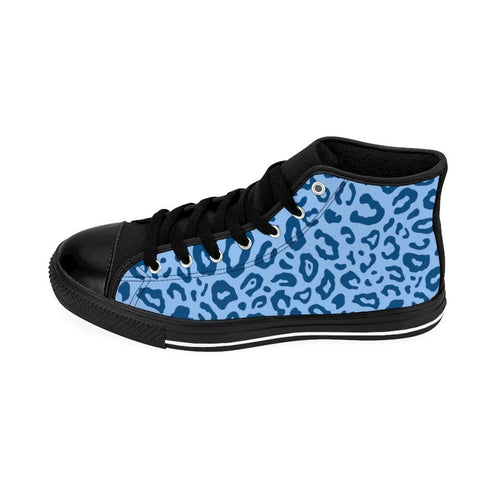 Shoes - Women's Blue Leopard Sneakers