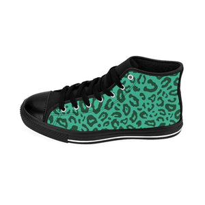 Shoes - Women's Green Leopard Sneakers