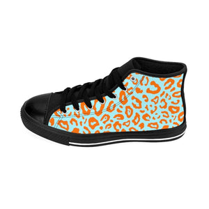 Shoes - Women's Orange Leopard Sneakers