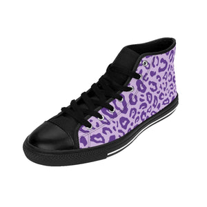 Shoes - Women's Purple Leopard Sneakers