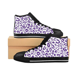 Shoes - Women's Purple Leopard Sneakers Vol. 2