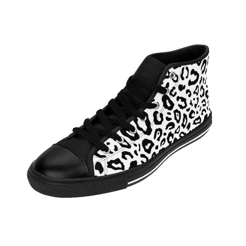 Shoes - Women's White Leopard Sneakers