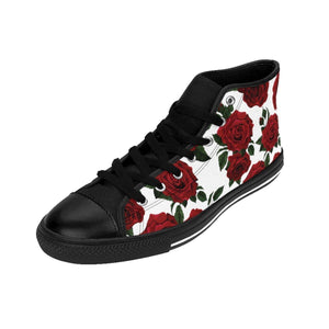 Shoes - Women's White Rose Sneakers