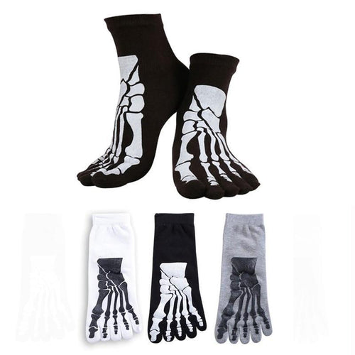 Skeleton Toe Socks