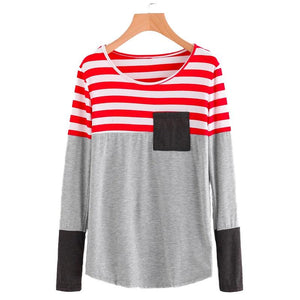 Striped Patchwork Longsleeve