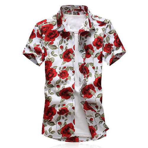White Rose Button Up Shirt