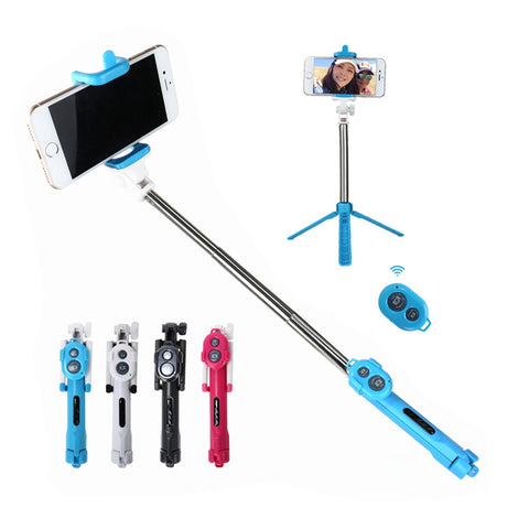 3 in 1 Selfie Stick + Tripod + Bluetooth Self Timer For Mobile Phones