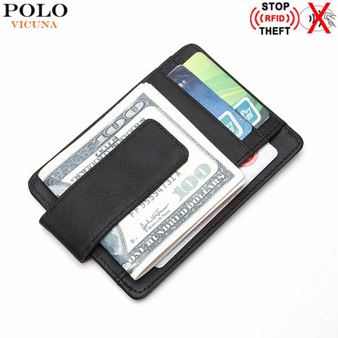 Leather RFID Blocking Ultra thin Wallet