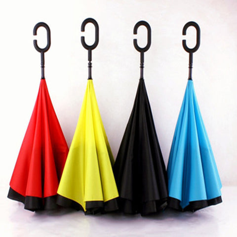 New Windproof Reverse Folding Umbrella