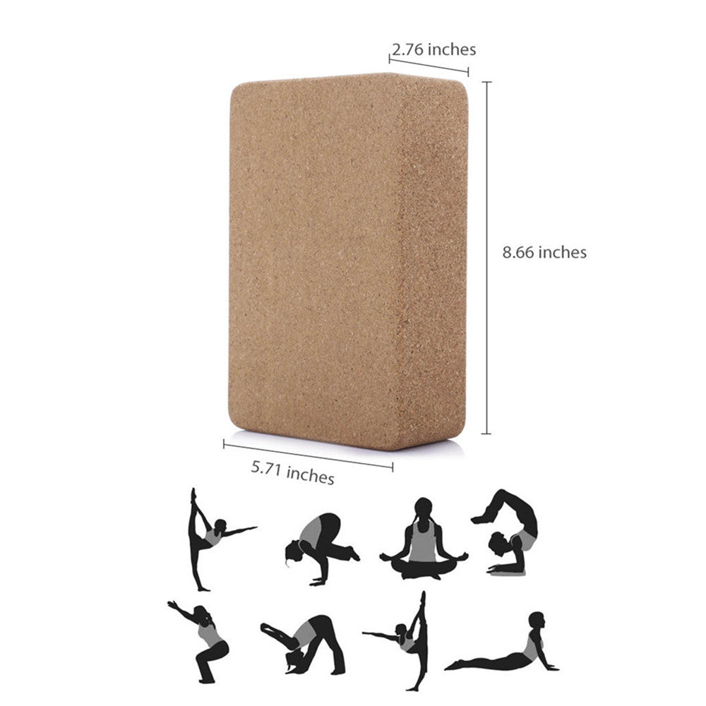Cork Wood Yoga Block, Recommended For Smaller Body Types