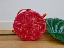 Maya round bag - flower design