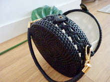 Luna round bag - black