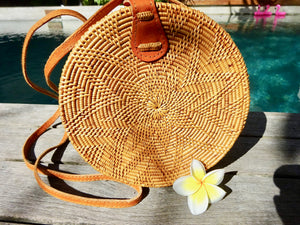 Lana round bag - flower design