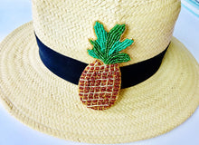 Pineapple beaded brooch