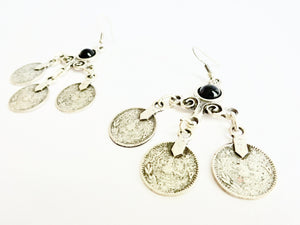Ethnic coin earrings