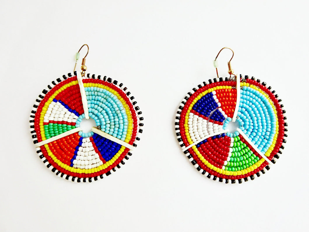 Maasai circlular earrings