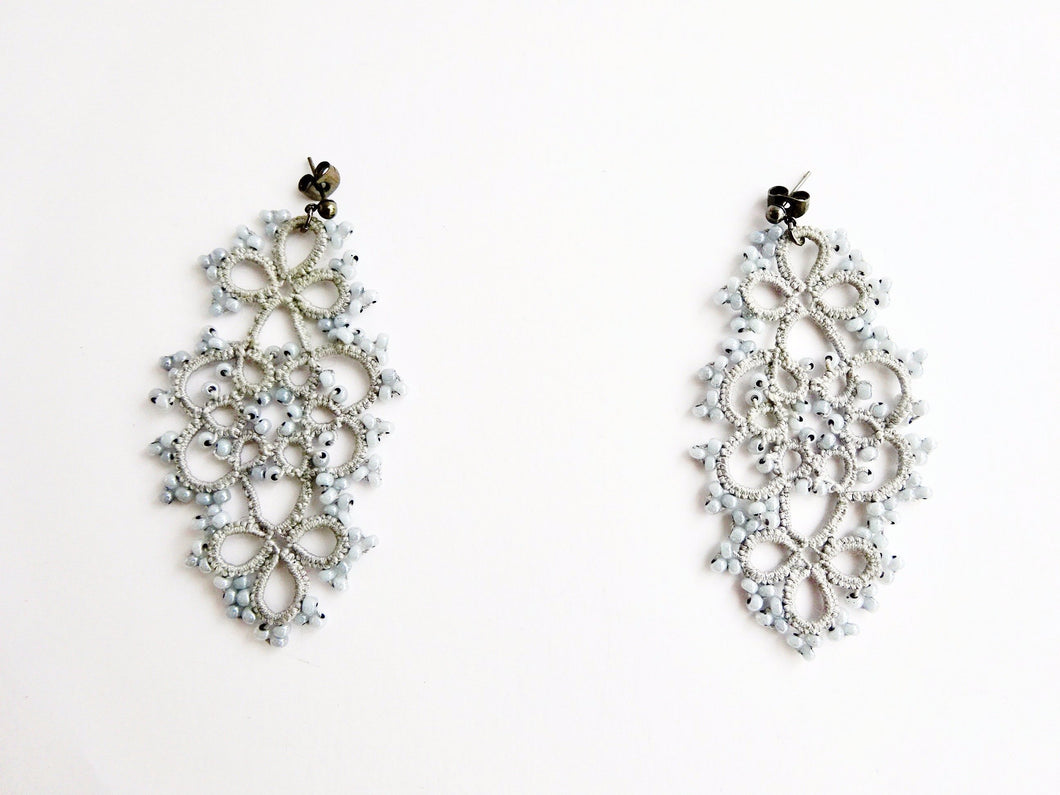 Crochet chandelier earrings