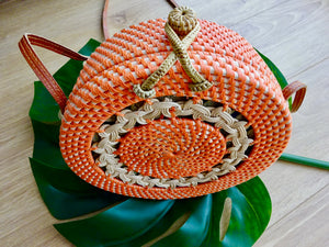 Luna round bag - orange
