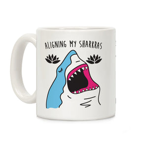 Aligning My Sharkras Ceramic Coffee Mug