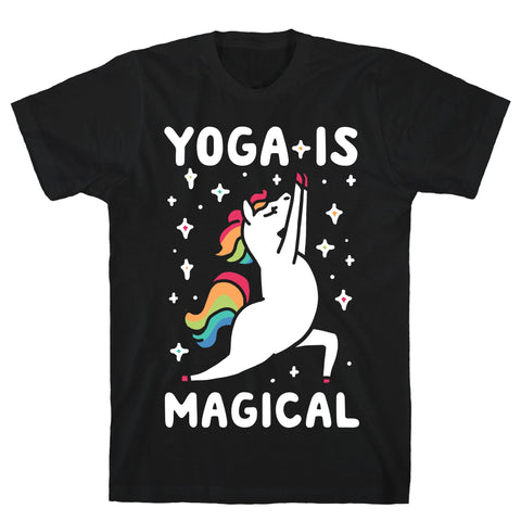 Yoga Is Magical Black Unisex Cotton Tee