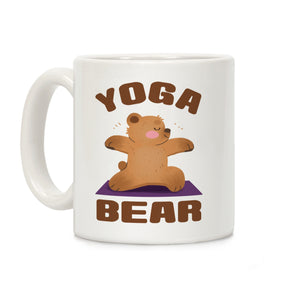 Yoga Bear Ceramic Coffee Mug