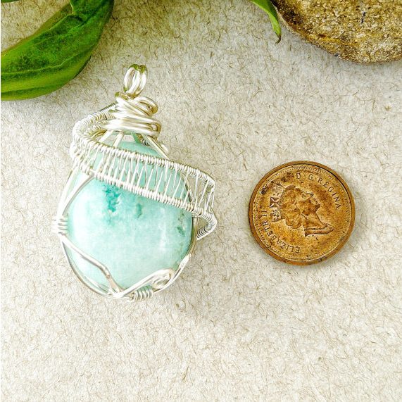 Blue Aragonite Necklace