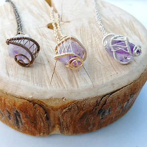 Raw Amethyst Necklace